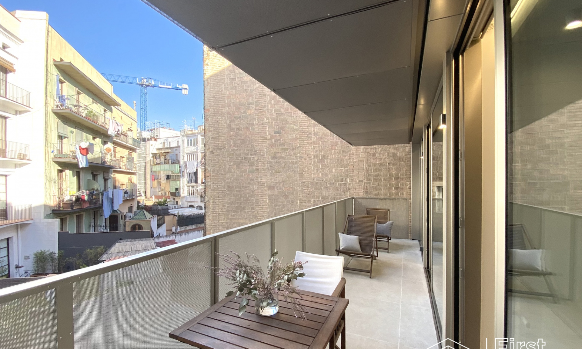 modern apartment in Barcelona with terrace